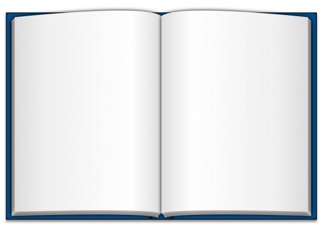 真っ白な本